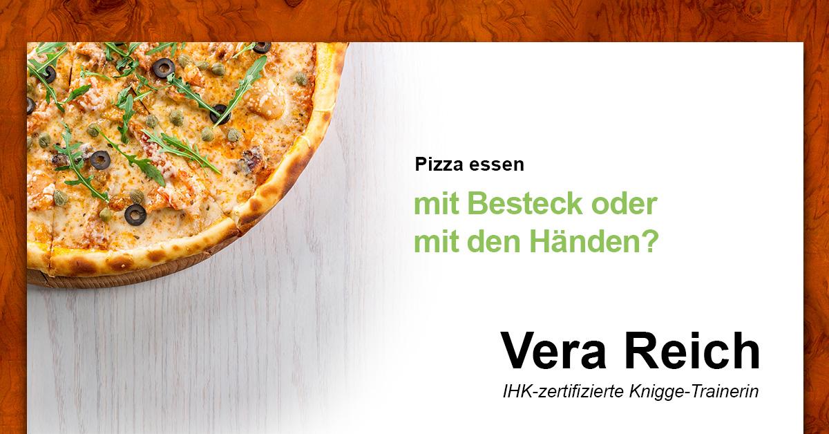 Pizza essen mit besteck oder mit den h nden knigge reich for Knigge besteck