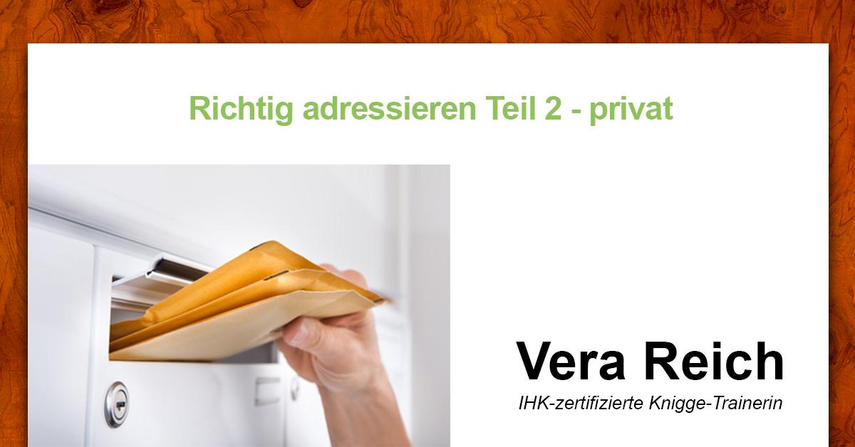 Briefe Richtig Adressieren Eheleute : Richtig adressieren teil privat knigge reich