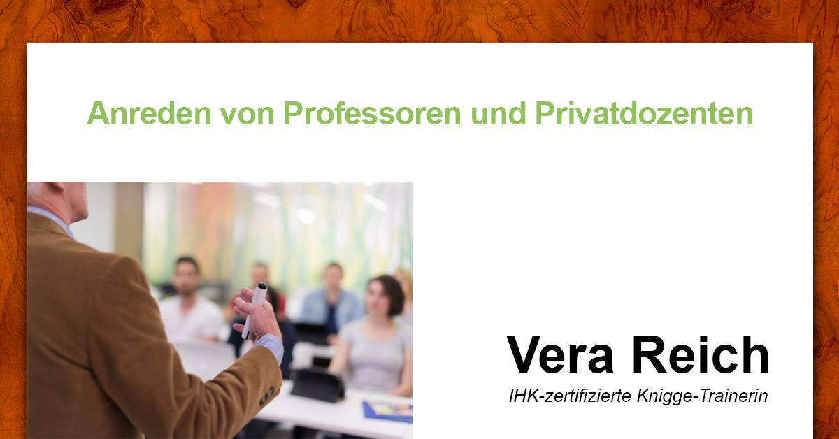 Anreden Von Professoren Und Privatdozenten Knigge Reich